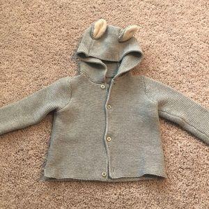 BabyGap garter bear baby cardigan sweater